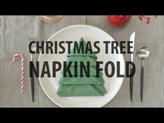 Christmas Tree Napkin Fold - YouTube