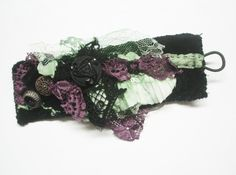 Fabric Cuff Bracelet. Haute Couture 2.Handmade ♥ by Atelierinparis, $70.00
