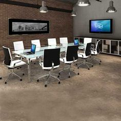 Glass Conference Room With Round Table Herman Miller
