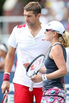 9/7/15 Anastasia Rodionova  ·   Into the #Quarterfinals of #USOpen2015 with Max Mirnyi! #MixedDoubles #NYC #MaxMirnyi #Wilson #Oakley #ForeverMark