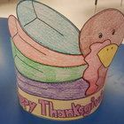 What a great way to have your students celebrate Thanksgiving!  Have your students place this turkey pattern on a sentence strip and wear as a hat....