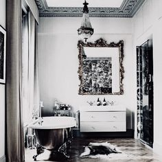 The bathroom is often the sanctuary in the home; personalizing it with unique bathroom vanities not only makes the atmosphere … Home Interior Design, Interior And Exterior, Bathroom Showrooms, Bathrooms, Dyi, Hollywood Homes, Building A New Home, Amazing Spaces, Dream Decor