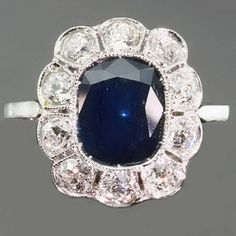 Beautiful!!! 1920s sapphire engagement ring!!!