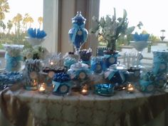Blue and white candy buffet... beautiful wedding... wonderful people. | Yelp