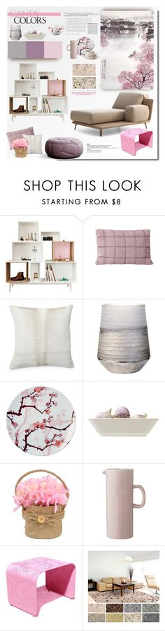 """Pink Spring"" by snowbell ❤ liked on Polyvore featuring interior, interiors, interior design, home, home decor, interior decorating, Muuto, Donna Karan, Lene Bjerre and Ink Dish"
