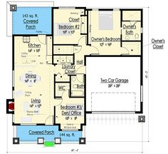 Simply Simple One Story Bungalow - 18267BE | Architectural Designs - House Plans