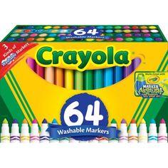 Crayola 64-Count Broad Line Markers - Walmart.com