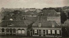 In de andere richting gezien: Eerst een foto van de marktschool. gebouwd in 1841 (links op de foto)