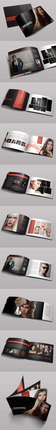 Bifold Brochure. love the simplicity of the layout and use of photos inside the shapes.