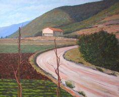 agricultural landscape - oil on canvas - 60x50 cm