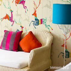 Deer wallpaper pattern by Fototapeta4u.pl