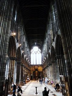 Inside Glasgow Cathedral Edinburg Scotland, Glasgow Scotland, England And Scotland, Scotland Travel, Edinburgh, Visit Glasgow, Glasgow Cathedral, Stirling, Cathedrals