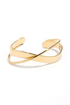 Around the Bend Gold Bracelet