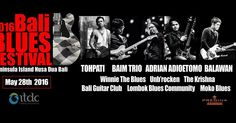 Come and join with us on may 28th, 2016. Feel the blues at marvelous island-Peninsula, Nusa Dua Resort Bali.  Guest Star : Adrian Adioetomo, Tohpati, Balawan, Baim Trio & many more. HTM 200k, and you will get more voucher: DISC 10% Bebek Bengil, 10% Hongxing, 15% Agendaz, 30% M-Spa Nusa Dua, 30% at The Bangle discount 50% Devdan Show at Bali Nusa Dua Theatre, .  and shopping voucher at Bali Collection Nusa Dua. One ticket include more values!!! Ticket available at rajakarcis.com…