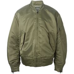 Yeezy Adidas Originals by Kanye West bomber jacket (€1.075) ❤ liked on Polyvore featuring outerwear, jackets, coats & jackets, tops, green, bomber jacket, long sleeve jacket, bomber style jacket, adidas originals jacket and green jacket