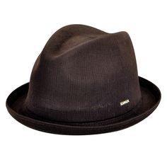 The Tropic Player is a versatile trilby who's brim can be worn up, down or with a back flip. The seamless, knitted, & blocked construction is purely a Kangol® innovation. The Tropic yarn means that the hat is both lightweight & comfortable.