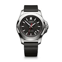 Men's Wrist Watches - Victorinox Mens 2416821 INOX Analog Display Swiss Quartz Black Watch -- Click on the image for additional details.