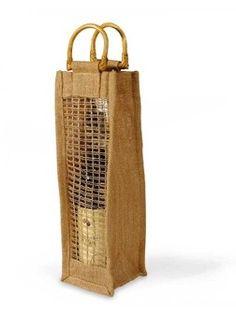 Jute Wine Bag 4 X 14