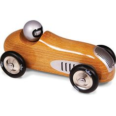 Drivers start your engines! | Beautiful wooden vintage sports car at Smitten for the Wee Generation.