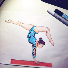 #gym #gymdraw #gymnast #gymnastic #leotard #teamitaly #italy #francy #gym #love #colors #beam #pantone #beam #body #balancebeam #draw #drawing #paint #painting #promarker #gymnast #gymnastic #sketch #art #gymnastdraw #gymnastpaint