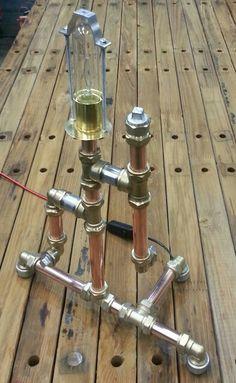 Copper,  Brass, Galvanized Pipe Lamp