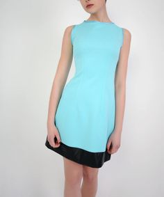 Look at this Dejavu Turquoise & Black Quilted Sleeveless Dress on #zulily today!