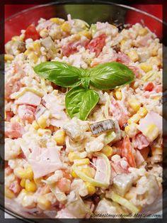 Słodko-słone pichcenie: Sałatka z kaszą bulgur Grains, Rice, Lunch, Food, Bulgur, Eat Lunch, Essen, Meals, Seeds