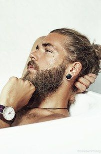 Oh, and of course the one bearded bun man to rule them all, Ben Dahlhaus. | 23 Beard And Man Bun Combinations That Will Awaken You Sexually
