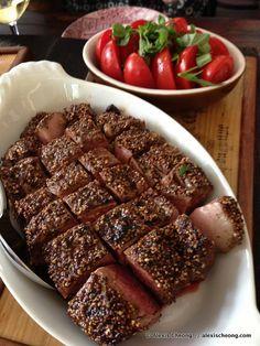 Pepper steak at Le Bistrot du Sommelier