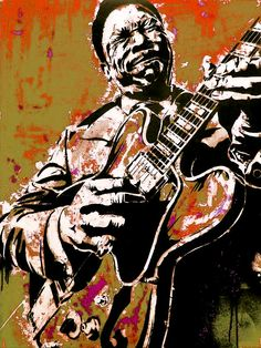 bb king poster King Painting, Music Painting, Painting & Drawing, Concert Posters, Music Posters, Jazz Art, Blues Music, African American Art, Blue Art