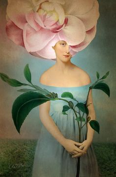 ⊰ Posing with Posies ⊱ paintings & illustrations of women & children with flowers - Camille by Catrin Welz Stein