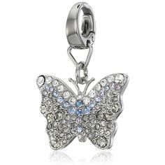 Fossil Glitz Butterfly Charm (£24) ❤ liked on Polyvore featuring jewelry, pendants, charm jewelry, multi color jewelry, fossil charms, multi colored jewelry and colorful jewelry