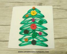 Postal navideña con costura creativa