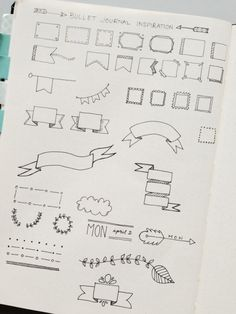 How To Create Planner Doodles, Headers and Dividers