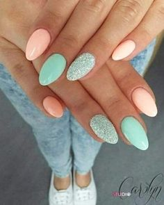 Easter Nail Designs, Acrylic Nail Designs, Acrylic Art, Fingernail Designs, Summer Acrylic Nails, Best Acrylic Nails, Summer Nails, Fall Nails, Nail Ideas For Summer