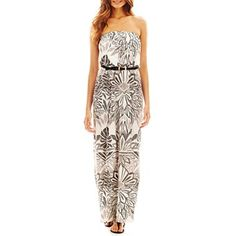 b635ed13c9ca Bisou Bisou® Belted Strapless Maxi Dress - jcpenney  40.00 Strapless Maxi