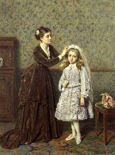 """Her First Comunion"". Artist. George Goodwin Kilburn."