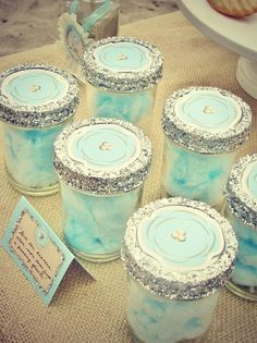 Cotton candy in jars #cottoncandy