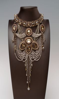 Jewelry Design - Bib-Style Necklace with Swarovski Crystal, Czech Fire-Polished Glass Beads and Seed Beads - Fire Mountain Gems and Beads