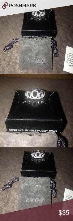 Avon beautiful sterling Silver Majesty crown ring New sterling silver majesty crown ring size 7 fit for a princess. Avon Jewelry Rings