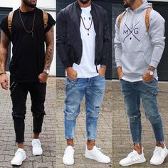 Sneakers Men Casual Style Fashion Ideas For 2019 Stylish Mens Outfits, Casual Outfits, Men Casual, Casual Jeans, Mode Masculine, Mode Outfits, Fashion Outfits, Style Fashion, Trendy Fashion