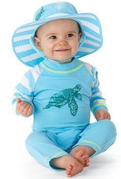 UV protective turtle swim & beach romper