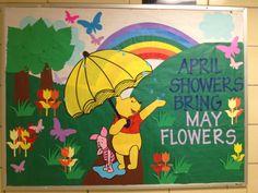 My April RA bulletin board for Ellicott Hall