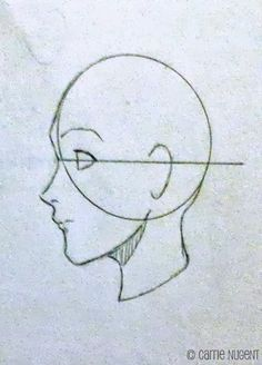 How to draw female head proportions for superhero characters. Profile.