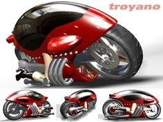 Conceptual motorcycle design motorbike, (.max) 3ds max
