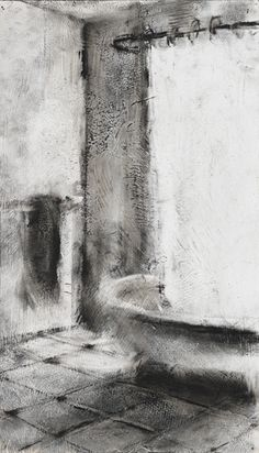 Garrett J. Cook, Illuminated Charcoal Drawing
