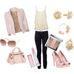 pink, created by apalepe on Polyvore
