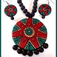 Terracotta Jewellery - Red