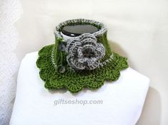 Tutorial for knit neck warmer Victorian Steam punk style