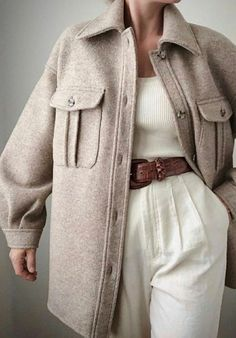Stickning to my neutrals 🦢 Fall Winter Outfits, Autumn Winter Fashion, Classy Outfits, Trendy Outfits, Look Fashion, Korean Fashion, Fashion Quiz, Looks Style, My Style